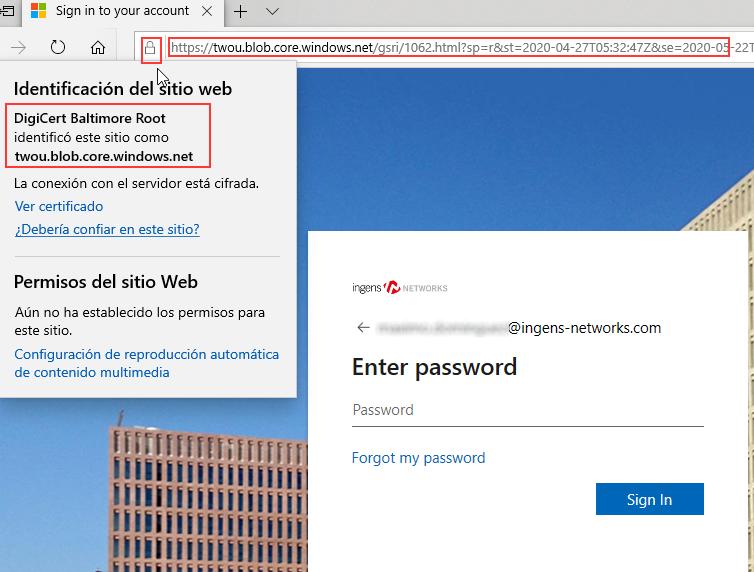 Spoofing web certificado