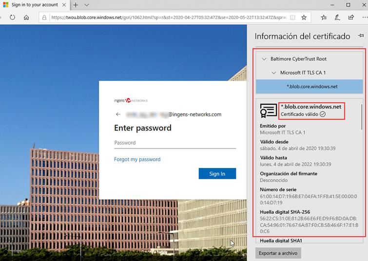 Spoofing web credencial